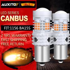 AUXITO 1156 BA15S P21W Anti Hyper Flash LED Turn Signal Light Bulbs Amber/Yellow