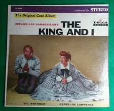 The King And I Original Cast Album LP Decca Yul Brynner Gertrude Lawrence