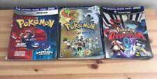 3 Pokémon Strategy Guides Nintendo DS GameCube Game Boy Ruby Sapphire Colosseum