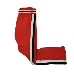 Vintage 80s Sand Knit Mac Gregor Chicago Bulls Tear Away Warmup Shooting Pants