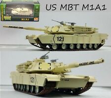 US MBT M1A1 Kuwait 1991 desert painting tank 1:72 Easy Model assembled