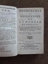 ETRENNES DU PARNASSE. RECHERCHES & REFLEXIONS SUR POESIE EN GENERAL.FETIL.1772