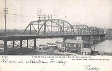 Allentown Pennsylvania New Bridge Across the Lehigh River Postcard J59270