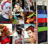 Women Men Retro Hip hop Cotton biker dance Paisley Bandana Hair Headband Wrap