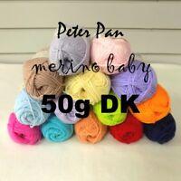 Peter Pan Merino Baby DK Soft 100% Superwash Wool Double Knitting Yarn 50g