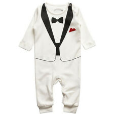 Baby Boys Newborn Infant Outfits Jumpsuit Romper Bodysuit Gentleman Clothes