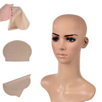 Fake Latex Flesh Skin Unisex Bald Head Wig Cap Rubber Skinhead Costume Prank WG