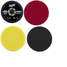 "Meguiar's 5"" DA Polisher Kit: Foam Pads & Backing Plate DBP5, DFC5, DFP5, DFF5"