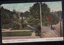 Vintage Antique Postcard Prison & Park, Lancaster Pa. 1909