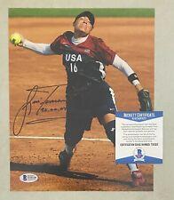 Lisa Fernandez Signed 8x10 Softball Photo AUTO Beckett BAS COA