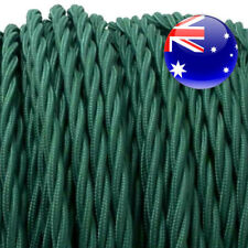 BRITISH RACING GREEN TWIST vintage style textile fabric electrical cloth cable