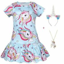 Kids Dress For Girls Clothes Unicorn Princess Party Dress Printed Clothes