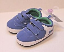 Carter's Infant Baby Boy Size 3 Blue & White Crib Shoes 6-9 Months NEW