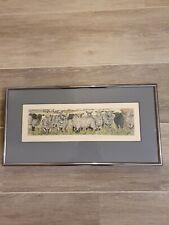 Chaud Truscott - Watch the Birdie Etching Print No 16/100 in metal frame