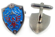 Legend of Zelda Link Hylian Triforce Nintendo Shield Cufflinks Cuff Links Set