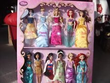 DISNEY STORE RARE CLASSIC 11 PRINCESS DELUXE DOLL DATED GIFT SET 1938-2012 MINT