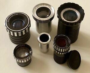 Lot Lens Angenieux, Berthiot, Roussel, Schneider, Ernolux, (famille kinoptik)