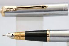 Wing Sung No. 601 MKI Flighter Fine Fountain Pen, GT