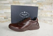 PRADA Gr 41 7 Homme Chaussures À Lacets Baskets Chaussures Basses bruciato NEUF