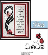 Lady Bugs dies Elizabeth Crafts Animals Insects metal cutting die set for cards