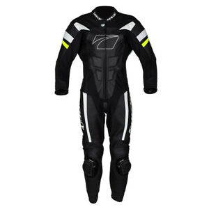Spada Curve Evo 1 One Piece Leather Motorcycle Racing Suit Black fluo 42