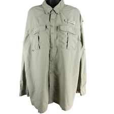 Field & Stream Moss Green Long Sleeve Button Up Outdoor Life Shirt Men's Size XL