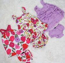 BABY GAP OUTFIT LOT Tank Dresses + Bloomers Diaper Covers Summer Girls 6-12M
