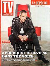 TV MAGAZINE 2015: GAROU_JULIE ANDRIEU_HELENE SEGARA_JEAN-MARC MORANDINI
