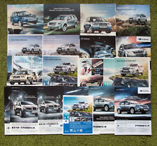 Subaru Forester & B9 Tribeca - lot of 16 Russian auto magazine print ads A4