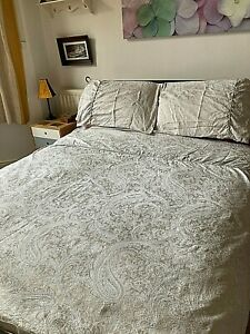 JULIAN CHARLES King DUVET COVER SET Paisley Luxury Cotton Rich Jacquard Beige