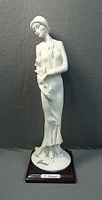 """Giuseppe Armani """"Lady with Flowers"""" Figurine 10"""" Florence Made in Italy 1987"""