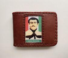 Handmade JESUS MALVERDE Genuine Lether Burgundi / Dark Red Mens Bifold Wallet