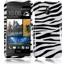 For AT&T HTC ONE MINI HARD Protector Case Snap On Phone Cover Zebra
