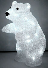 30CM 3D Acrylic Standing Baby Bear with 24 White LED Christmas Lights