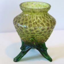 petit vase ancien Art Nouveau en verre de Loetz