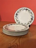 "6 x Royal Doulton Burgundy No T.C.1001 Starter Salad Dessert Plates 8"""
