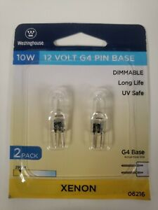 Westinghouse 10W 12V #06216 T3 Xenon  Bulbs G4 Base FREE SHIPPING (2L)