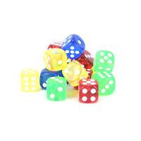 24Pcs 16Mm Rounded Corners Playing Party Dices Four-Color Transparent Dice FE