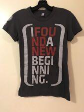 I Found A New Beginning Gray T-Shirt S Christian Church Jesus Evangelism M XS