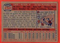 1957 Topps #250 Eddie Mathews EX WRINKLE Milwaukee Braves HOF FREE SHIPPING