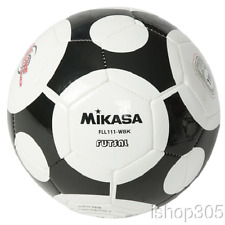 Mikasa America Futsal Indoor Soccer Ball Cushioned Cover Adult size FLL111-WBK