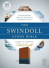 NLT The Swindoll Study Bible Tutone (Brown, Teal & Blue)