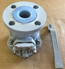 """PFA lined Carbon Steel ball valve 150# flanged 1 1/2"""""""