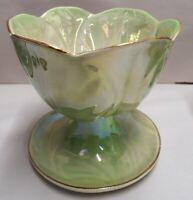 Australian Pottery Wembley Ware Dessert Comport c1946-61 Parfait Green Lustre