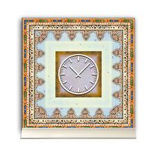 Tischuhr 30cmx30cm inkl. Alu-Ständer -orientalisches Design  Motiv Marokko Flies