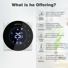 Digital 16A240V Electric Heating Thermostat Underfloor Room Tep Touch Controller