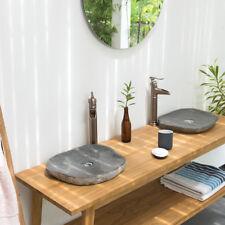 WOHNFREUDEN Naturstein Aufsatz-Waschbecken extraflach 40-50 cm natur Gäste WC