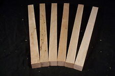 6 Piece Soft Maple Lathe Turning Spindle Pen Blanks  1 x 1 x 12 Inches Lumber