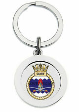 HMS SABRE KEY RING (METAL)