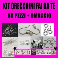 MINI KIT MINUTERIA BIGIOTTERIA 80 PEZZI CREA ORECCHINI DIY IDEA REGALO + OMAGGIO